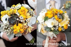 Beautiful Bouquets ~ Yellow & Grey