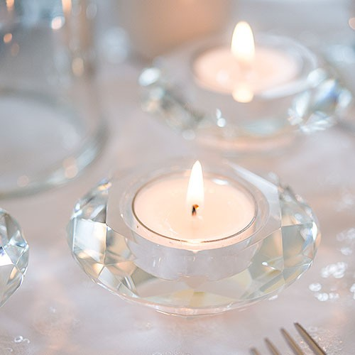 crystal wedding candle holders reception accessories Winnipeg