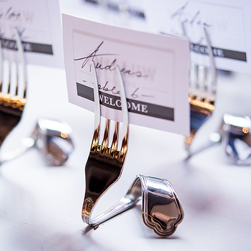unique wedding accessories place card holders reception