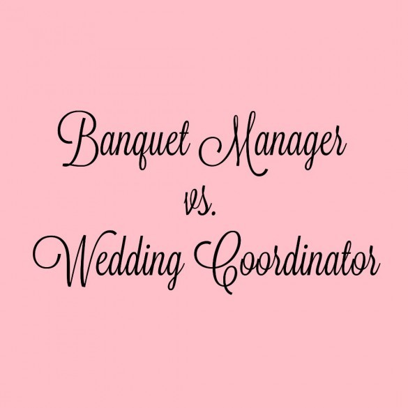 banquetcatering manager vs wedding coordinator - Banquet Manager