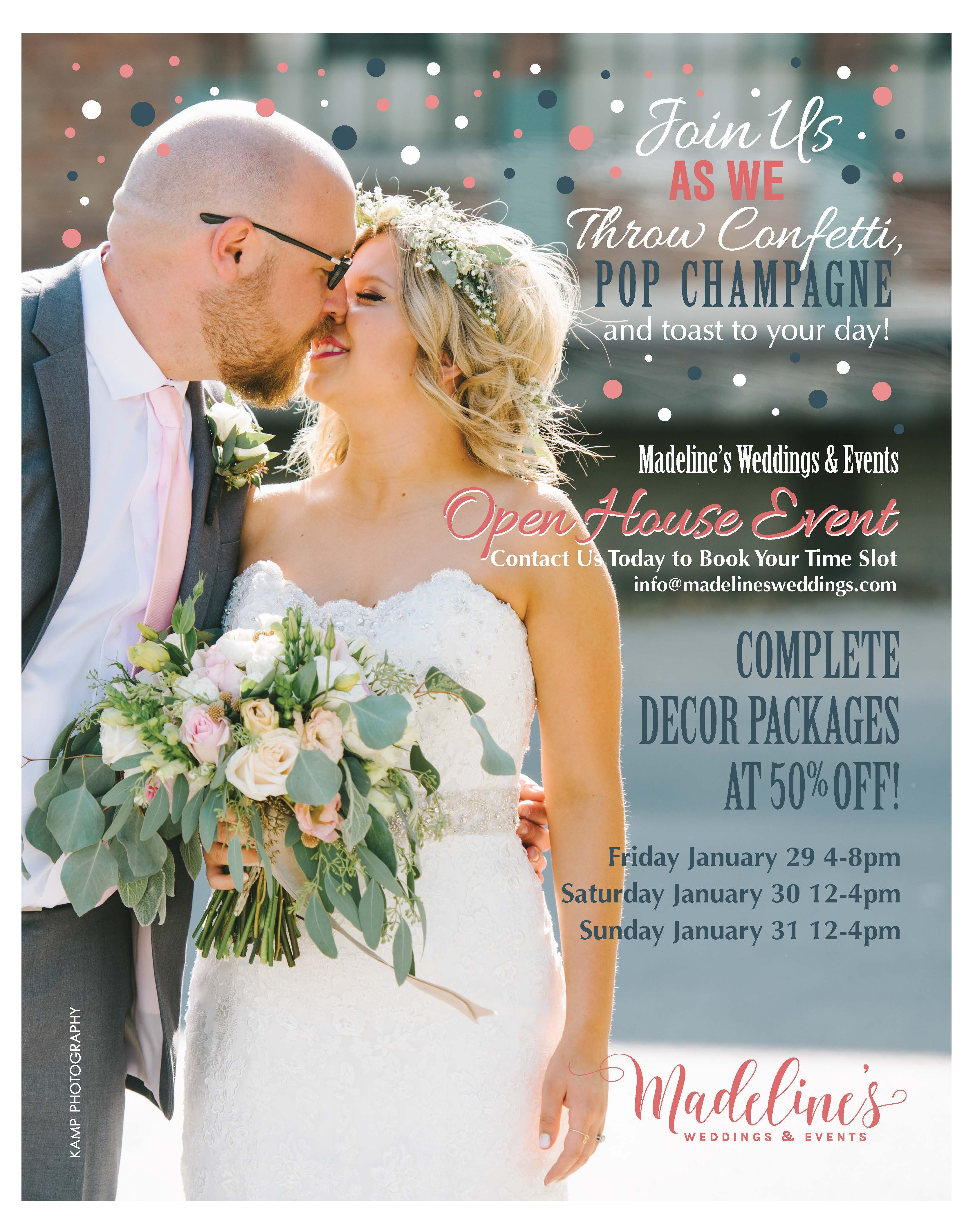 Pop the Champagne – Madeline's Weddings & Events Open House!