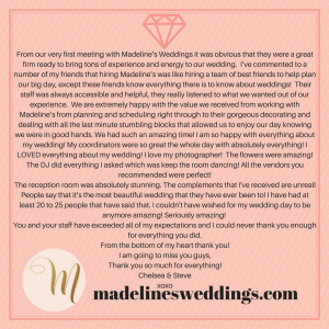 Madeline's Weddings Reviews